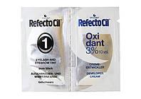 Мини-набор Краска №1 черная 1мл + Крем оксидант (3%) 1мл Refectocil