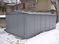 Металлический гараж с двускатной крышей 3,8х6,4 суперэконом