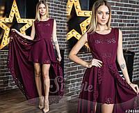 Вечернее асимметричное женское платье