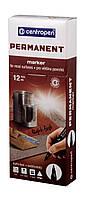 Маркер Centropen Permanent 2536 1 мм черный