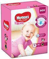 Подгузники Huggies Ultra Comfort 4 (8-14 кг) для девочек Дисней Бокс 96 шт., фото 1