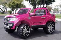 Детский электромобиль джип FORD RANGER F-150, двухместный, розовый, НОВИНКА!