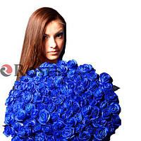 Блю Мондиаль 101 синяя роза