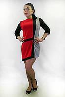 Платье   FLF  First Lend Fashion Мазайка Прямое Цвета L, Красный