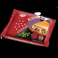 Гамбургер с кебабом с куриного мяса