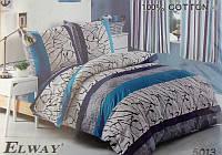 Сатиновое постельное белье евро ELWAY 5013