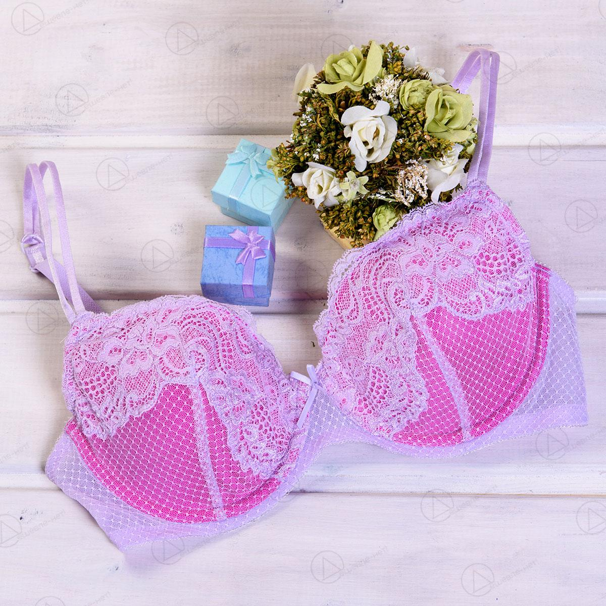 Розовый бюстгальтер кружевной 024bra 10234391