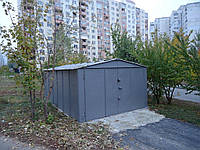 Гараж сборный с двускатной крышей 2,78х6,4 (1,2/1,2)