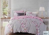 Сатиновое постельное белье евро ELWAY 5028