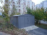 Гараж сборный с двускатной крышей 2,78х6,4 (2/1,2)