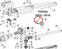 Гайка червячной пары для Nice TO4016, TO5016 привода распашных ворот PMD1159R04.4610