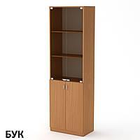 КШ-6 книжный шкаф для офиса и дома с витриной