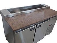 Холодильный стол для пиццы с гранитной столешницей (1400х700х850)