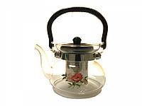 6006-Чайник конус-600мл с ручкою и крыш.