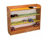 Полка для детской обуви цветная №2