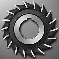 Фреза дисковая трехсторонняя ф 100х22 мм Р18 со вставными ножами разнонаправленный зуб