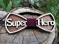 Деревянная бабочка галстук Ободок Супер герой ручной работы, серия Fantasy