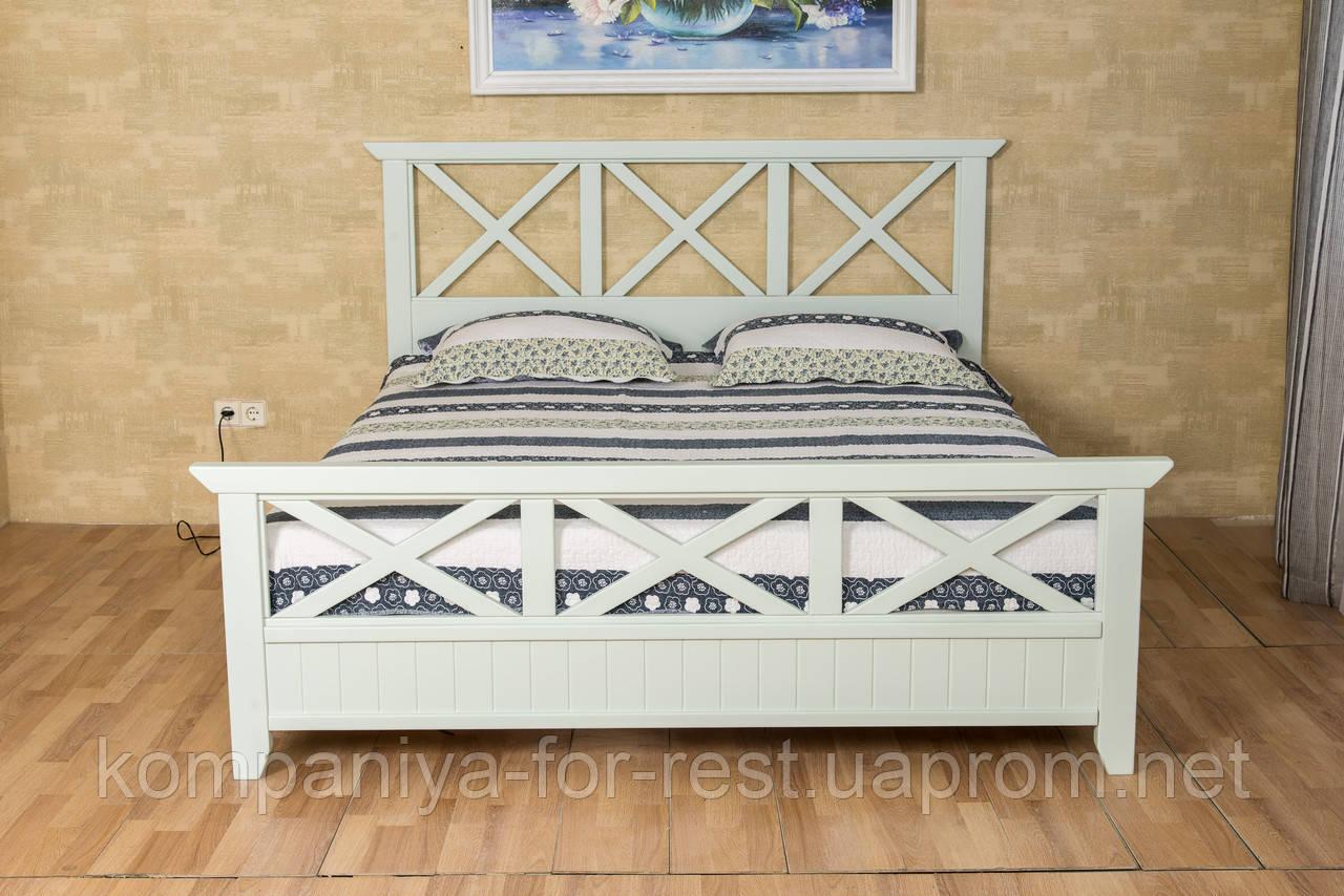 """Кровать из массива дерева """"Фолк"""" в стиле Прованс"""