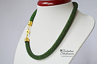 Вязаный жгут зеленый, фото 1