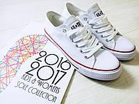 КЕДЫ AIL цвет:БЕЛЫЙ, подошва 2,5См, материал-обувной текстиль