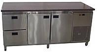 Холодильный стол для ресторана с гранитной столешницей (без борта)