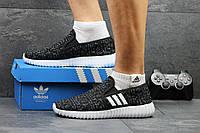 Мужские кроссовки ADIDAS, текстиль, черно белые / кроссовки для бега мужские АДИДАС, стильные