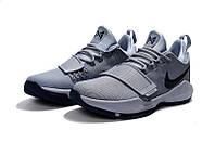 Детские баскетбольные кроссовки Nike Zoom PG 1 (Grey/Blue), фото 1