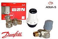 Комплект терморегулирующего оборудования для радиатора угловой DANFOSS 013G5253