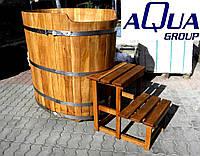 Деревянная купель 1,3х0,9х1,2 м