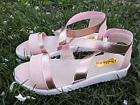 Босоножки женские кожаные розовые Ko0027