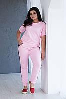 Женский летний трикотажный спортивный костюм Пэни (размеры 48-56)