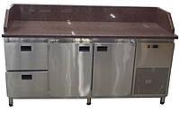 Холодильный стол для пиццы с гранитной столешницей (3 борта)