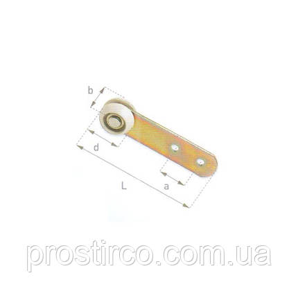 Ролик с ободом для профиля ЕДСХА 57.10.05, фото 2