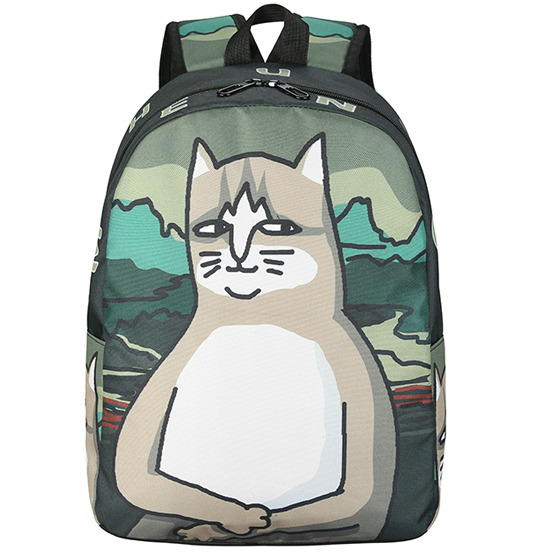 Модный рюкзак кот Мона Лиза