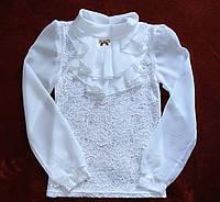 Школьные блузки. Белая гипюровая блузка.