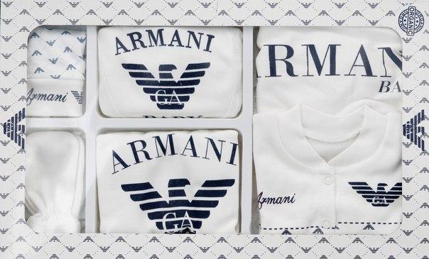 Подарочный набор для новорожденного Armani ,7 предметов.