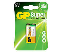 Батарейки GP - Super Alkaline 6LR61 / 6LF22 Крона 9V 1/10/50шт