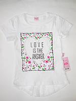 Белая детская футболка для девочек MOCCIS от 5 до 8 лет., фото 1