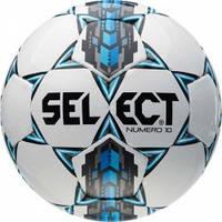 Мяч футбольный SELECT NUMERO 10 IMS (305) ,бел/сер/голуб р.3