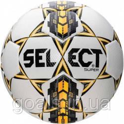 Мяч футбольный SELECT SUPER   (001) ,бел/сер/желт р.4
