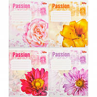 """Тетрадь цветная 36 листов,клетка """"Passion Flowers"""""""