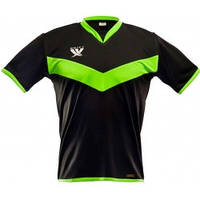 Футболка футбольная SWIFT 26 Idea Tactel (черно/зеленая)