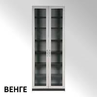Шкаф-11 МДФ модульный, с полками, для дома и офиса, со стеклом