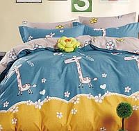 Полуторный постельный комплект 160Х220 Красивые Жирафики