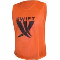 Манишка футбольная Swift оранжевая (сетка)