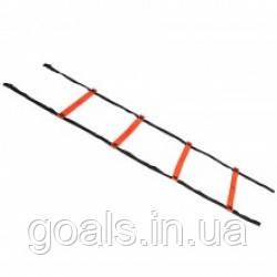 Координационная лестница SELECT Agillity ladder - indoor (216), оранж/черн, 6 м.