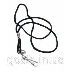 Шнурок для свистка SELECT (010), черный, 48 см