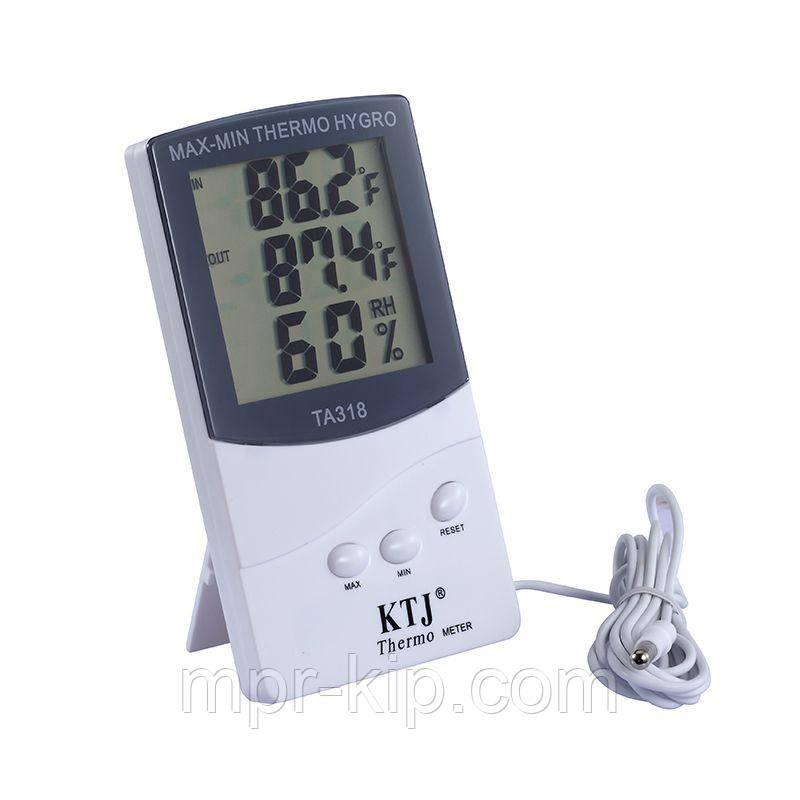 Термо-гігрометр Thermo TA318 ( 0°C... +50°C; 20%...99%) з термопарою 2 м (-50...+70°C)