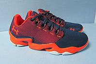 Мужские кроссовки Under Armour 1521 сине-оранжевые код 0351А