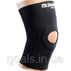 Неопреновый бандаж с открытой коленной чашечкой и прорезиненной внутренней поверхностью McDavid 406 Knee Sleeve w/Open Patella
